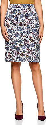 oodji Collection Womens Classic Pencil Skirt, Multicoloured, UK 12 / EU 42 / L