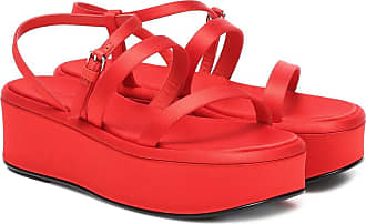 The Row Wedge satin platform sandals