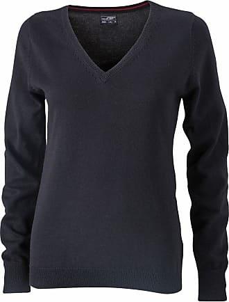 James & Nicholson JN658 Ladies V Neck Pullover Jumper Black Size XXL