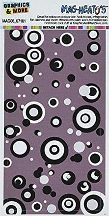 Graphics & More Circles Dots Black White Gray Mag-Neatos Automotive Car Refrigerator Locker Vinyl Magnet