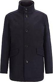 HUGO BOSS Coxtan Funnel-Neck Wool Coat