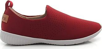 Usaflex Tênis Feminino Casual Usaflex Lycra 9310 - Vermelho Escuro