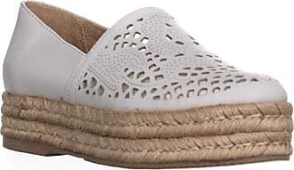 Naturalizer Womens Thea Platform, White Leather, Size 10.0 US / 8 UK US