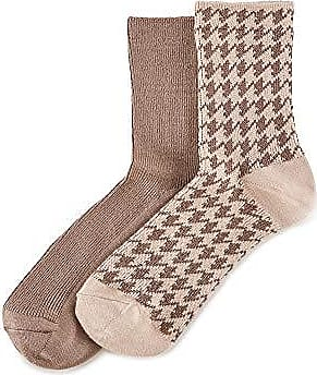 Ivory Multi One Size HUE Women/'s 2-Pair Shortie Boot Socks