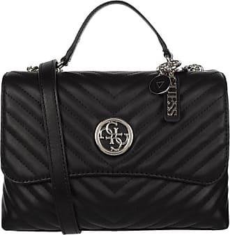 Guess Damen Handtasche Leder, Schwarz