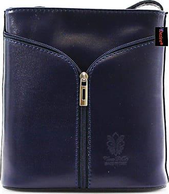 Your Dezire Womens Designer Real Leather Cross Body Bag Ladies Shoulder Handbag New (Navy)