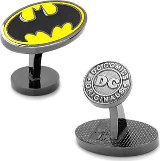 Zales Mens DC Comics Batman Logo Enamel Cuff Links in Grey Rhodium Brass