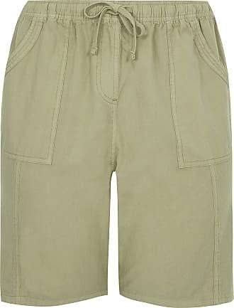 Yours Clothing Clothing Womens Linen Mix Shorts Size 22-24 Khaki