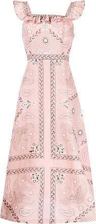 Sandro Gale ruffled trim dress - PINK