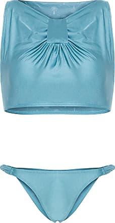 Água de Coco Biquíni Cropped Nó Africa - Azul