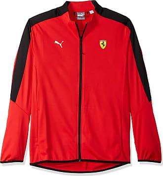 833dd2a78ee3 Puma Mens Scuderia Ferrari T7 Track Jacket Sweatshirt - Red - Large