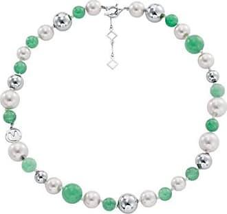 Misaki Collier ras de cou Sweet vert de perles