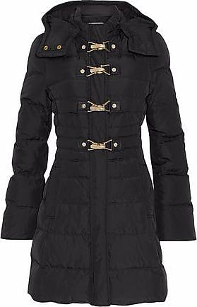 652cb1967c0 Versace Versace Collection Woman Quilted Shell Down Hooded Jacket Black  Size 46