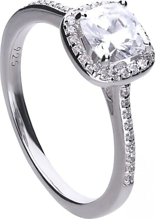 Acotis Limited Diamonfire Silver White Zirconia Square Ring R3626 Size K - 16 Size: S
