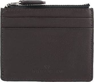 Scharlau Perls Credit Card Holder Brown