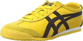 Onitsuka Tiger Asics Unisex Adults Mexico 66 Training Shoes, Multicolor (Yellow/black), 5.5 UK (39.5 EU)