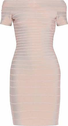 f819289b2cb3 Hérve Léger Hervé Léger Woman Carmen Off-the-shoulder Bandage Dress Blush  Size M
