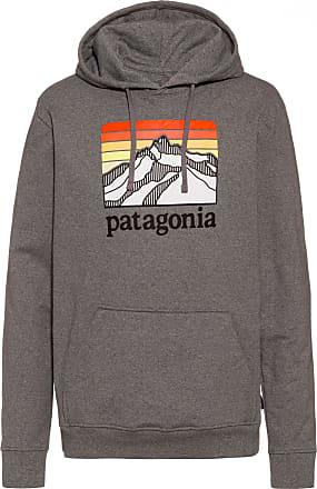 Patagonia Line Logo Ridge Uprisal Hoodie Herren in gravel heather, Größe XS