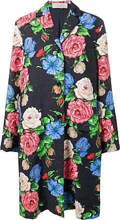 Nina Ricci floral brocade coat - Preto
