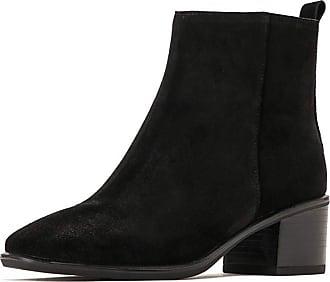 MGM-Joymod Womens Vintage Comfort Zipper Thick Mid Heel Chelsea Boots Work Office Dress Martin Ankle Booties (Black) 6.5 M UK