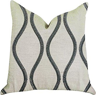 Plutus Brands Bella Curve Double Sided Luxury Throw Pillow 20 x 20 Green/Beige