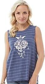 Animal striped vest top with large graphic print