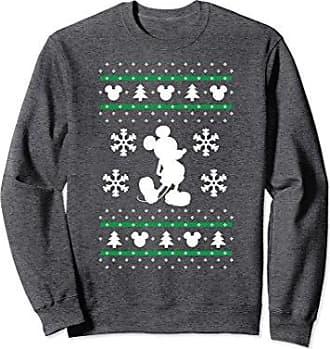 disney unisex disney mickey mouse christmas sweater print sweatshirt small dark heather