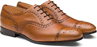 Churchs Vintage Calf Leather Oxford Brogue Man Beige Size 8,5