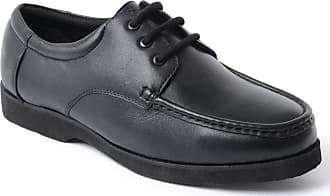 Chums Mens Leather Lightweight Laceup Shoe Black 8 UK