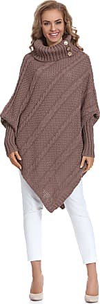 Merry Style Womens Poncho Carla (Mocca, One Size)