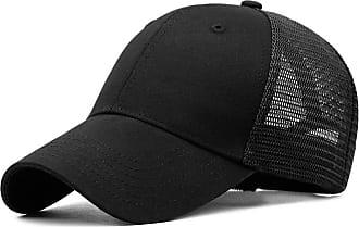 Yidarton Baseball Cap Polo Style Classic Sports Casual Plain Sun Hat(Y-Black)