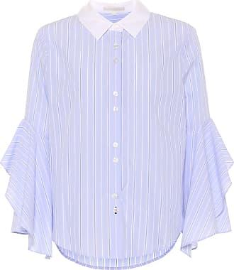 Jonathan Simkhai Ruffle-trimmed striped cotton shirt