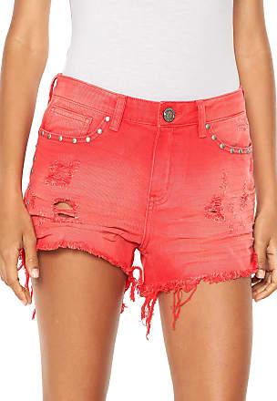 6c00a2f8a Coca Cola Ware Short Sarja Coca-Cola Jeans Hot Pant Tint Vermelho