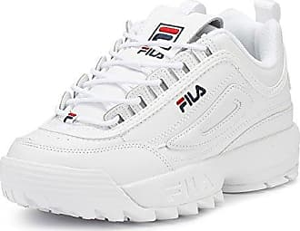 fb0c8bb29fb4 Fila Disruptor II Premium 5FM00002-125 Leather Synthetic Unisex Trainers -  White - 42