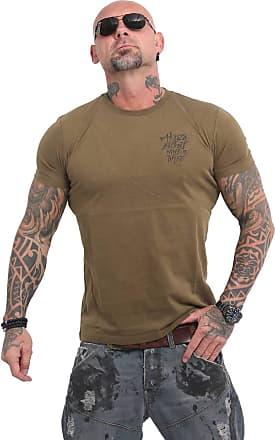 Yakuza Men T-Shirt Basic Line 4W, Size:6XL, Color:Dark Olive