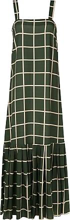 Adriana Degreas Vestido longo quadriculado - Verde