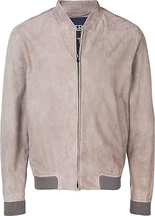 Herno goat skin bomber jacket - Grey