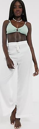 Glamorous Exklusive Strandhose in Weiß