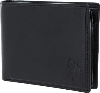 U.S.Polo Association U.S. POLO ASSN. Gary Horizontal Wallet with Coin Holder and Flap Black