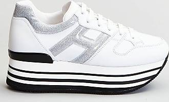Reposi Calzature HOGAN Maxi H222 - Sneakers in pelle bianco argento