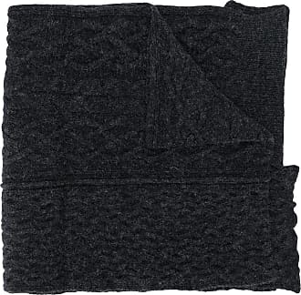 Raf Simons oversized slogan scarf - Cinza