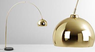 MADE.COM Bow Bogenlampe, Messing und Marmor