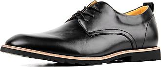 iLoveSIA Mens Oxford Fashion Leather Shoes Black UK Size 13 (US 14)