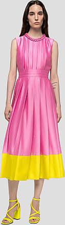 Msgm pleated dress with bottom flounce
