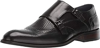 Stacy Adams Mens Mabry Wing-Tip Double Monk-Strap Loafer Black 11.5 M US