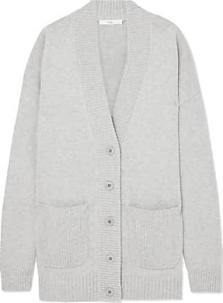 Tibi Oversized Cashmere Cardigan - Gray