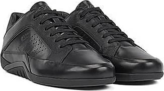 BOSS Low-profile trainers in nappa and embossed leather