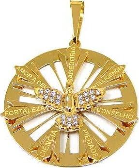 Prado Joias Pingente Em Ouro 18k Mandala Divino Com Zircônias