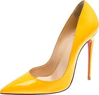 0fdf4accb50e Christian Louboutin Mustard Yellow Patent Leather Pigalle Pointed Toe Pumps  Size 37.5