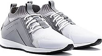 HUGO BOSS Logo trainers with hybrid uppers and knitted sock